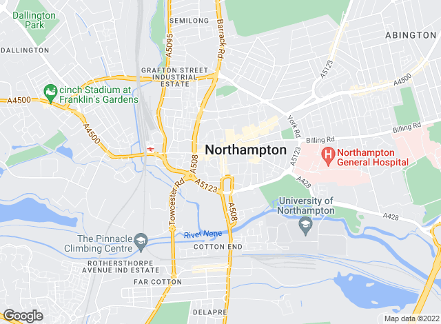 Map for Jackson-Stops & Staff, Northampton Lettings