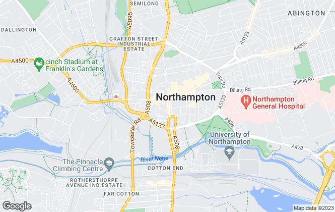 Map for Jackson-Stops, Northampton