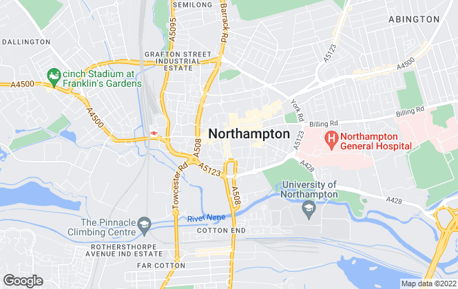 Map for YOUR MOVE Hobin Roberts Lettings, Northampton