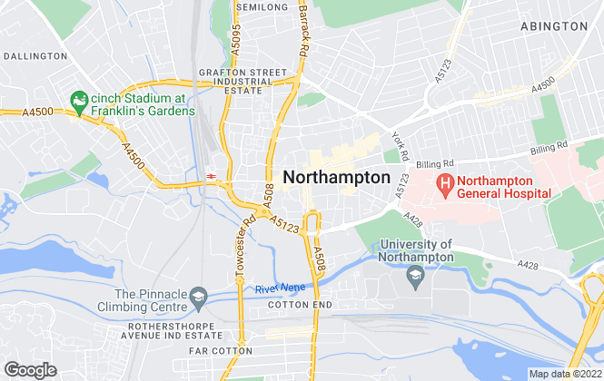 Map for Richard Greener, Northampton