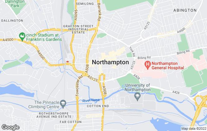 Map for Hadlands Chartered Surveyors, Northampton