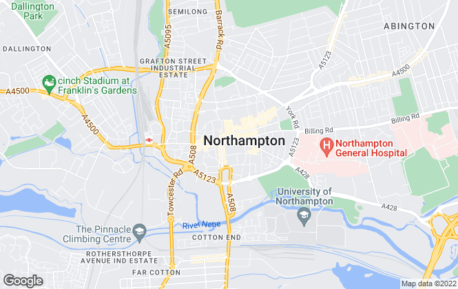 Map for Winkworth, Northampton