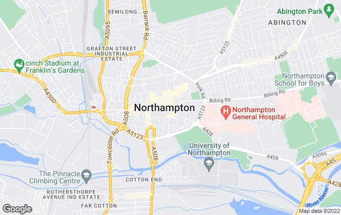 Map for Underwoods Town and County, Northampton - Lettings