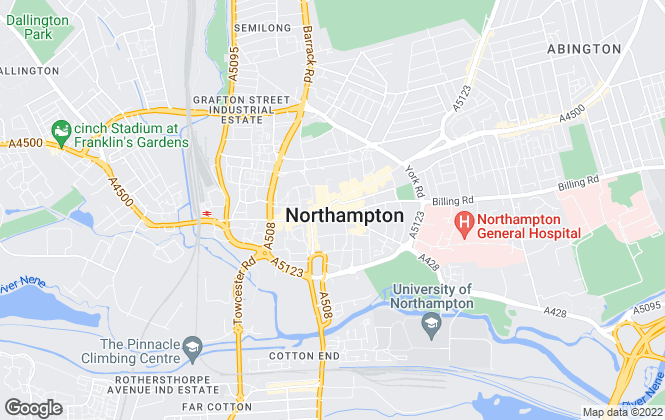 Map for Connells, Northampton