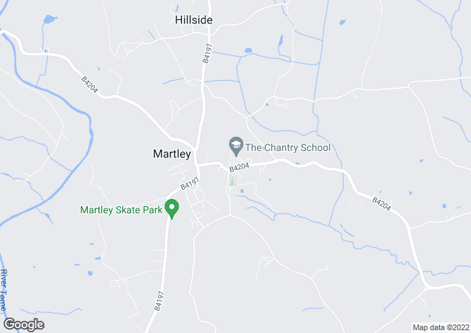 Map for Old Chantry School, Martley, Worcester, Worcestershire, WR6