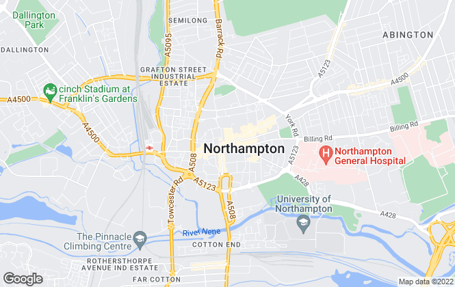 Map for Enfields Property Services, Northampton