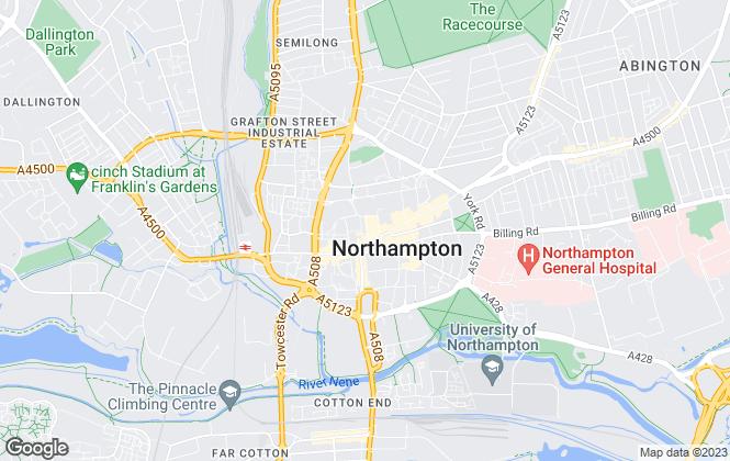 Map for Oscar James, Northampton