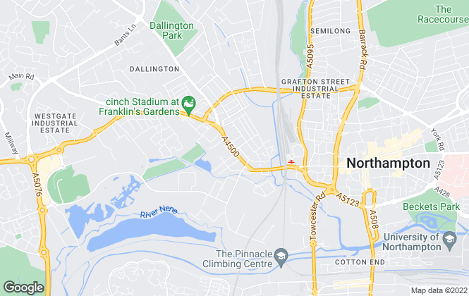 Map for Smartmove, Northampton