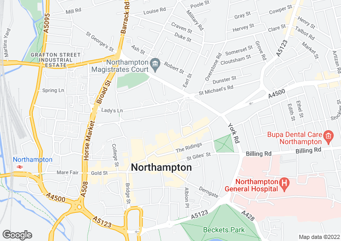 Map for 213 Northampton House,