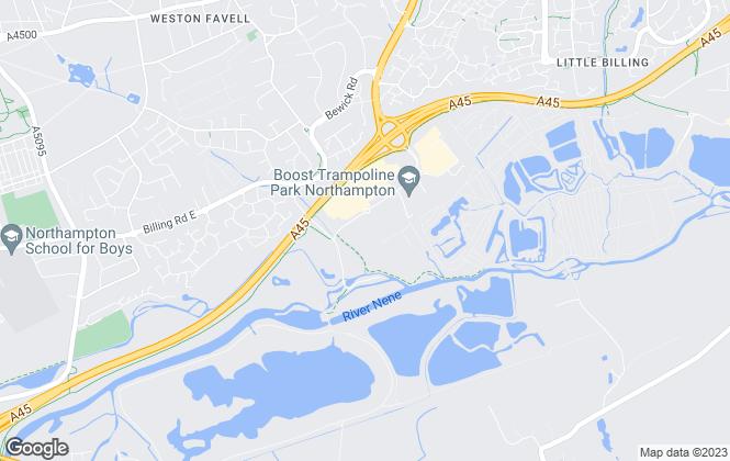 Map for Oakleaf South Midlands, Northampton