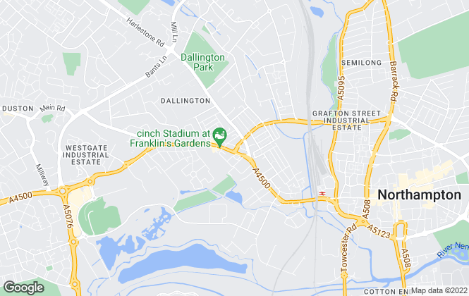 Map for PLC Property, Northampton