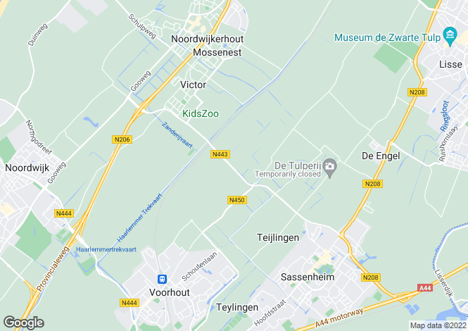 Map for Zuid-Holland, Voorhout