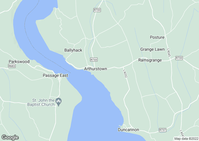 Map for Arthurstown, Wexford