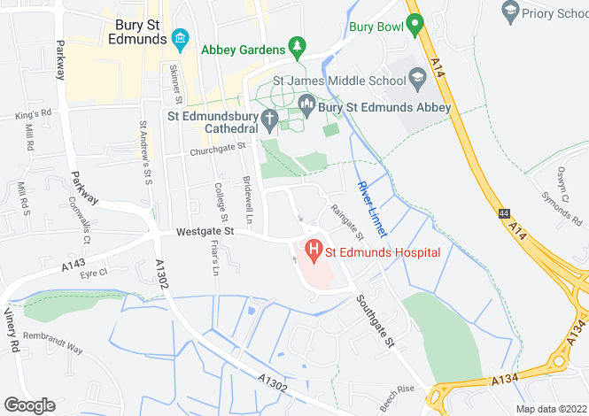 Map for Sparhawk Street, Bury St Edmunds