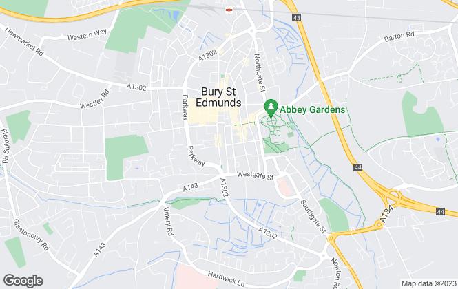 Map for Merrifields Chartered Surveyors, Suffolk