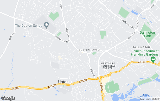 Map for Jackson Grundy Estate Agents, Duston