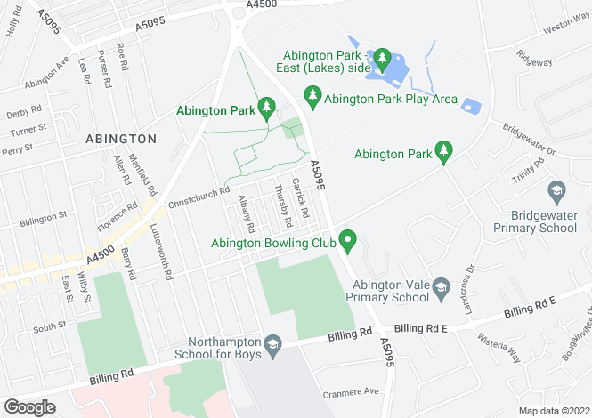 Map for ABINGTON   NORTHAMPTON   P2243