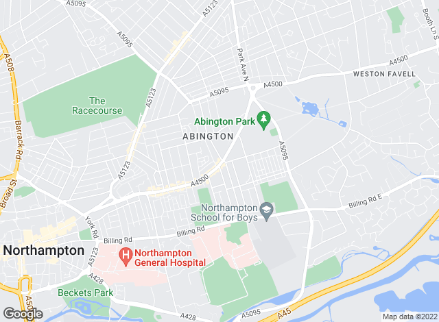 Map for Whites Estate Agents, Northampton