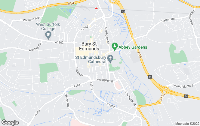 Map for Goymour Homes, Bury St. Edmunds