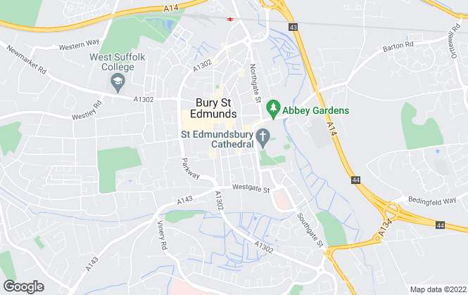 Map for Richard Green, Bury St. Edmunds