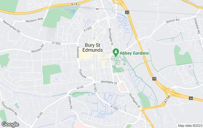 Map for Mortimer & Gausden, Bury St. Edmunds