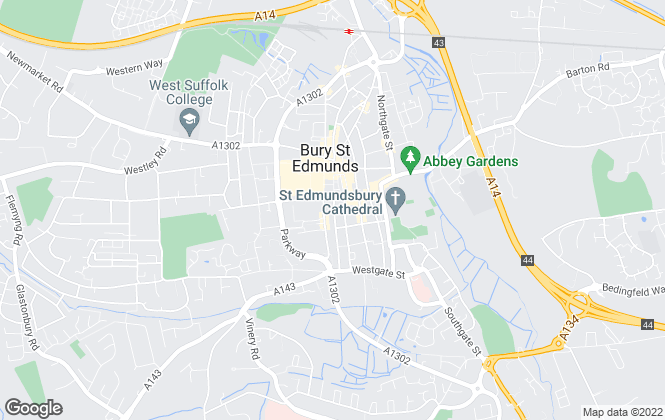 Map for Map Letting & Property Management, Bury St Edmunds