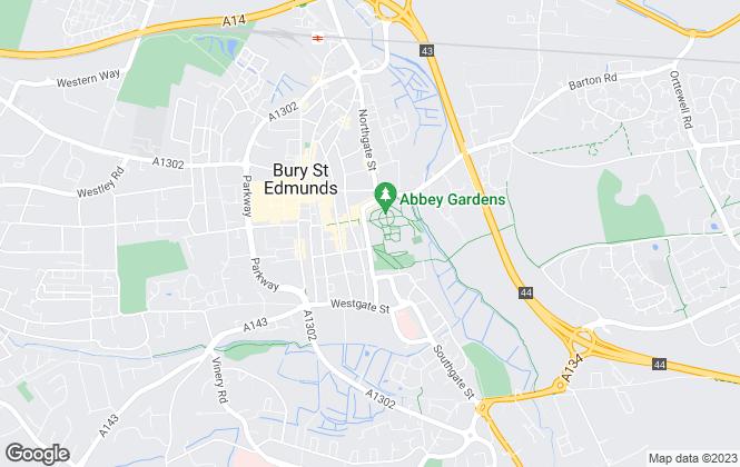 Map for David Burr Estate Agents, Bury St. Edmunds