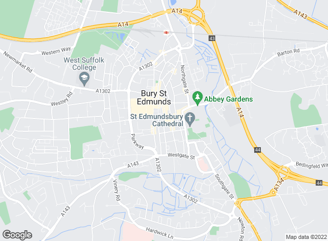 Map for Belvoir Bury St Edmunds, Bury St Edmunds
