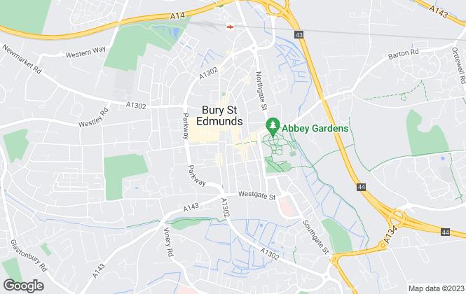 Map for Belvoir, Bury St Edmunds