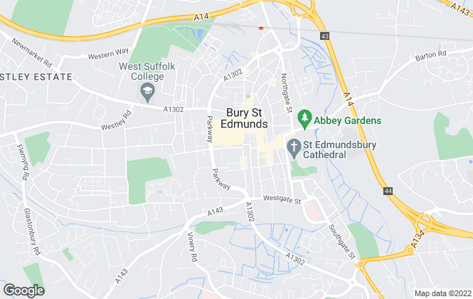 Map for Leaders, Bury St Edmunds