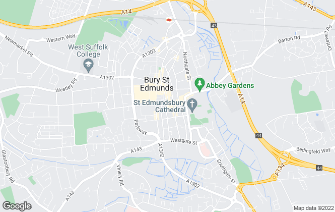 Map for Belvoir, Bury St Edmunds