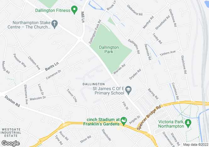 Map for Dallington