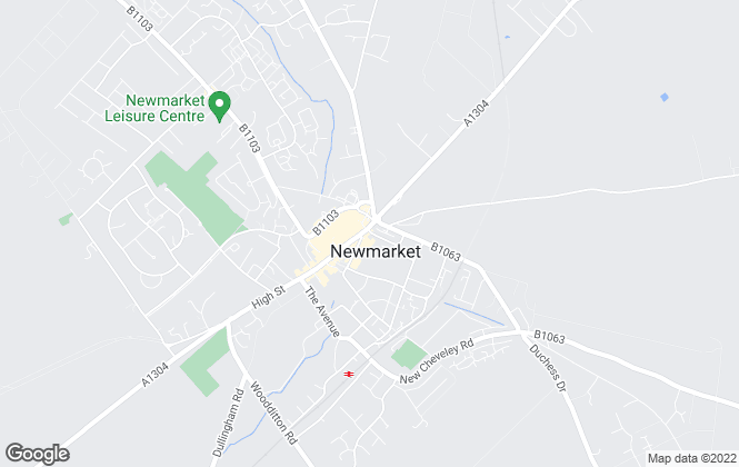 Map for Whatley Lane, Newmarket