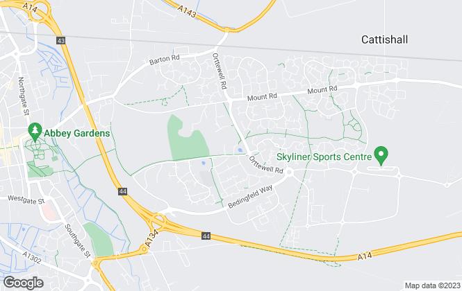 Map for Tennens Properties Ltd, Bury St Edmunds
