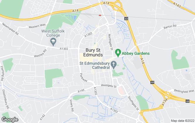 Map for Coakley & Theaker, Bury St Edmunds