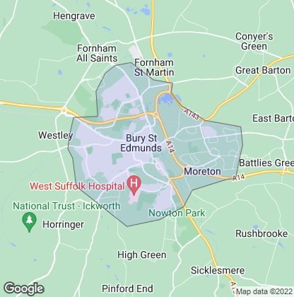 Map of property in Bury St. Edmunds