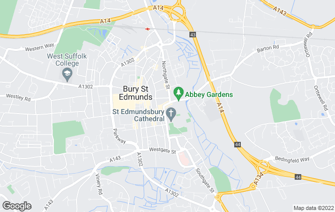 Map for Martin & Co, Bury St Edmunds - Lettings & Sales