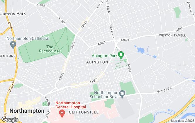 Map for Nicholas Humphreys, Northampton