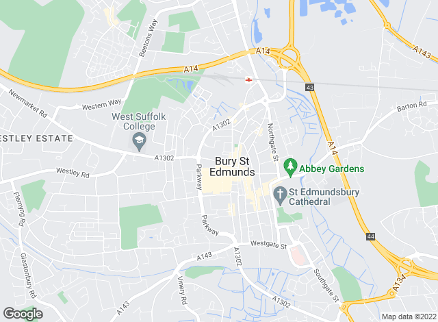 Map for Abbotts, Bury St Edmunds