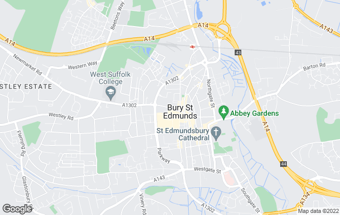 Map for Abbotts Lettings, Bury St Edmunds