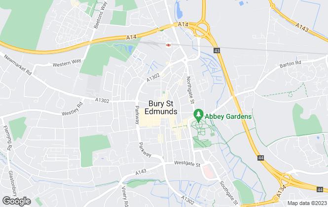 Map for Mark Ewin, Bury St Edmunds