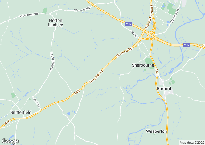 Map for Sherbourne Hill, Stratford Upon Avon, Warwick, Warwickshire, CV35