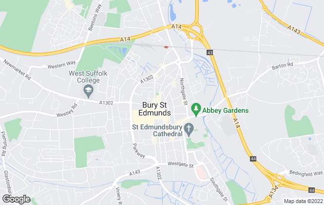 Map for Hazells Chartered Surveyors, Bury St Edmunds