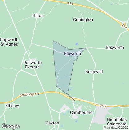 Map of property in Elsworth