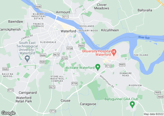 Map for Woodside, 14, Grange Park Road, Waterford City, Waterford
