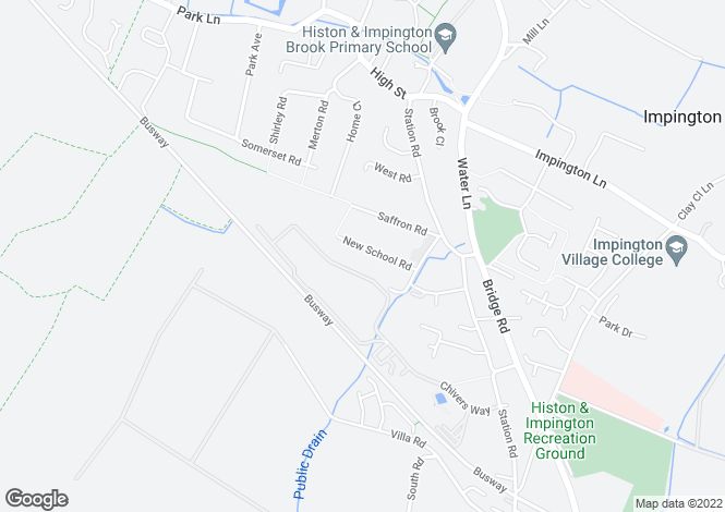 Map for New School Road, Histon, Cambridge
