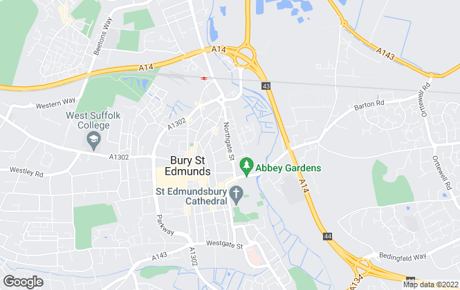 Map for Abbey Sales and Lettings, Bury St Edmunds
