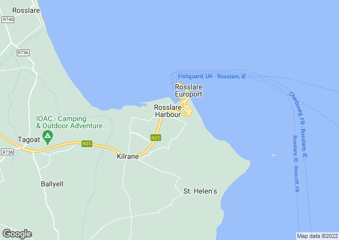 Map for Rosslare Harbour, Wexford