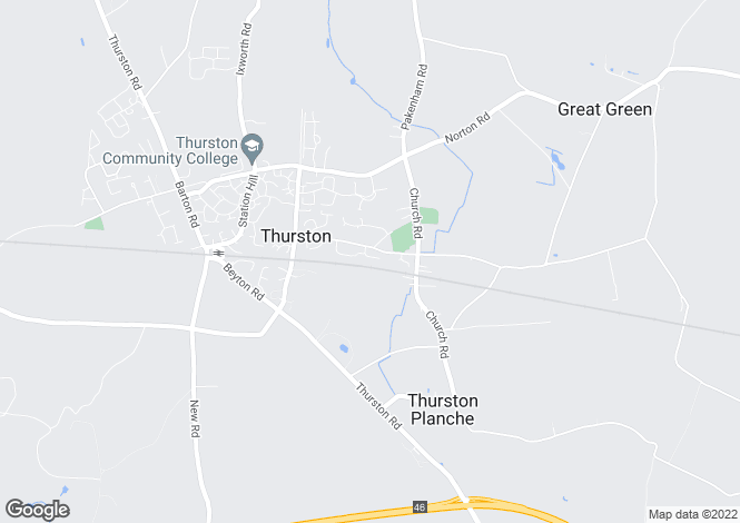Map for St Peters Way, Thurston