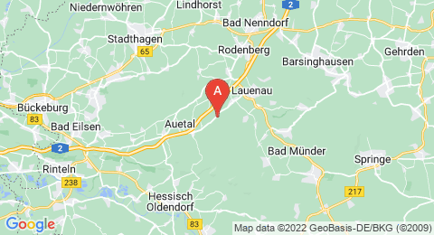 map of Calenberg Uplands (Germany)